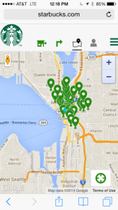 Starbucks store locator