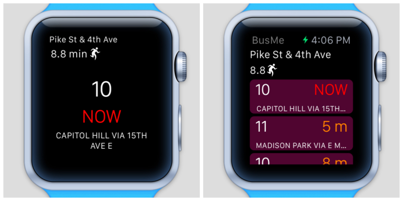 Apple Watch App - Bus Times - BusMe2