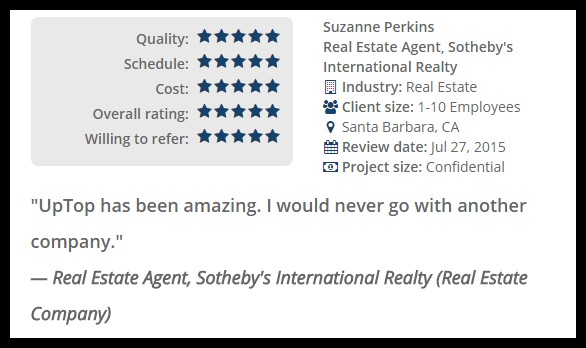 Real estate web design and development - UpTop Review[3]